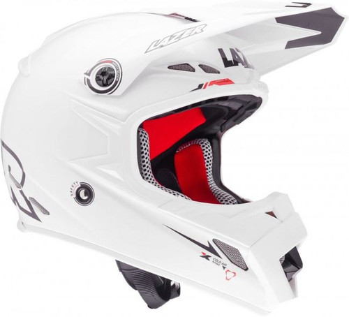 2015 Lazer MX-8 Helmet Pure Glass X-Line Plain White