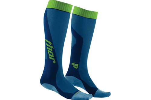2016 Thor MX Cool Socks Blue/Yellow