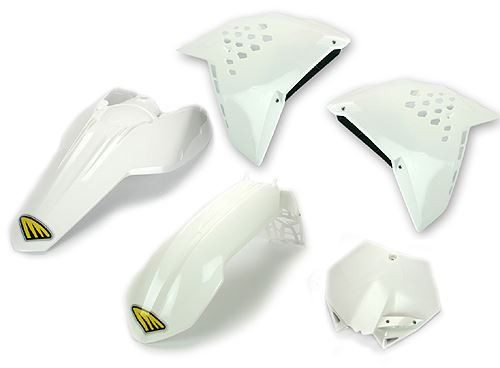 Cycra Full Body Plastic Kit KTM 125 UP SXF/XCF/SX/XC 2007-10, EXC/EXF 2008-11 White