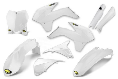 Cycra Poweflow Full Body Plastic Body Kit KTM 125 UP SXF/XC/XCF 2015, SX250 15-16 White