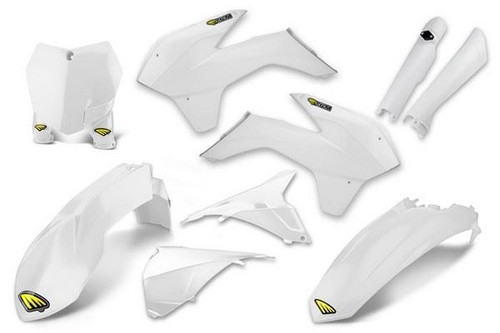 Cycra Powerflow Full Body Plastic Kit KTM 125 UP SXF/SX 2013-14, EXCF/XCF/XC 2013-16 White