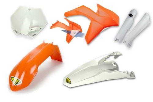 Cycra Full Body Plastic Kit KTM SXF/XCF/EXCF/SX/XC 125 UP 2011-12 Orange/White