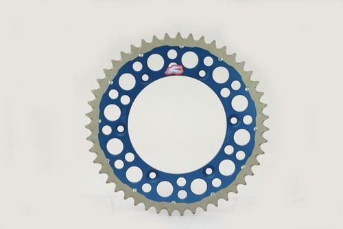 Renthal 150/520 50T/Tooth Rear Twinring Sprocket Blue Yamaha YZ/YZF