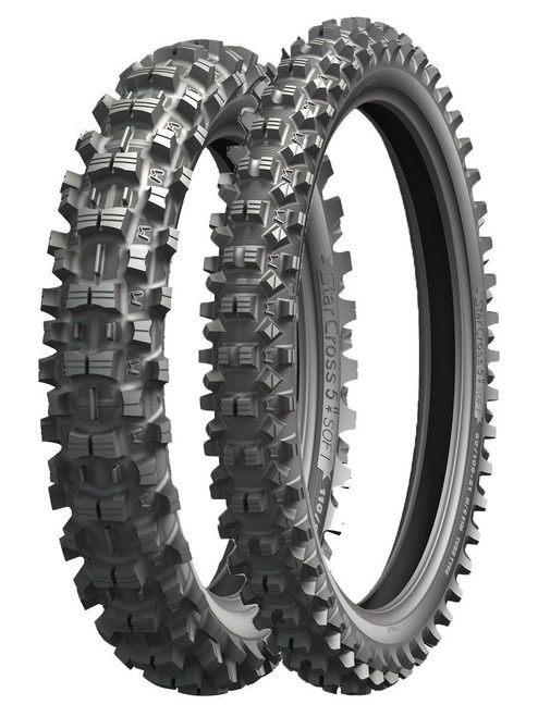 Pair Michelin Starcross 5 Soft Front 80/100-21 & Rear 100/90-19