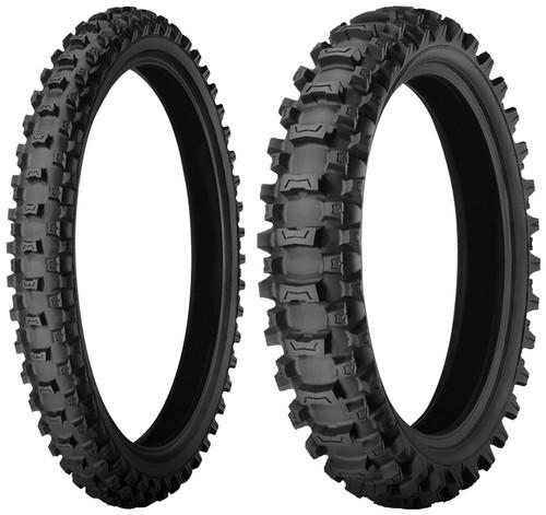Pair Michelin Starcross MS3 Junior Tyres 60/100-14 & 80/100-12