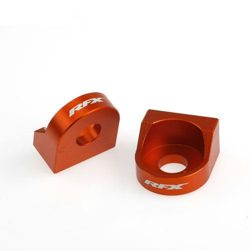 RFX Pro Rear Axle Adjuster Blocks (Orange) KTM 65 02-14
