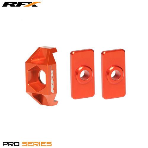 RFX Pro Rear Axle Adjuster Blocks (Orange) KTM 50 09-16