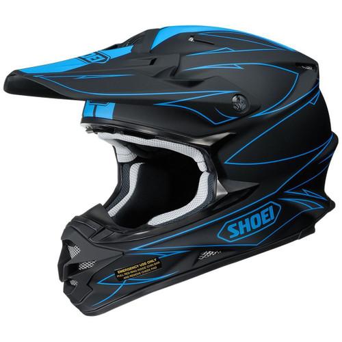Shoei VFX-W MX Helmet Hectic TC2 Black/Blue