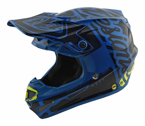 2018 Troy Lee Designs SE4 Polyacrylite Helmet Factory Blue