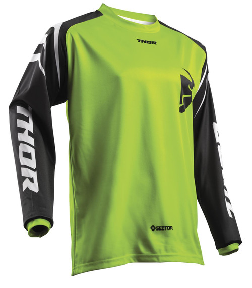 2018 Thor Sector Jersey Zones Lime