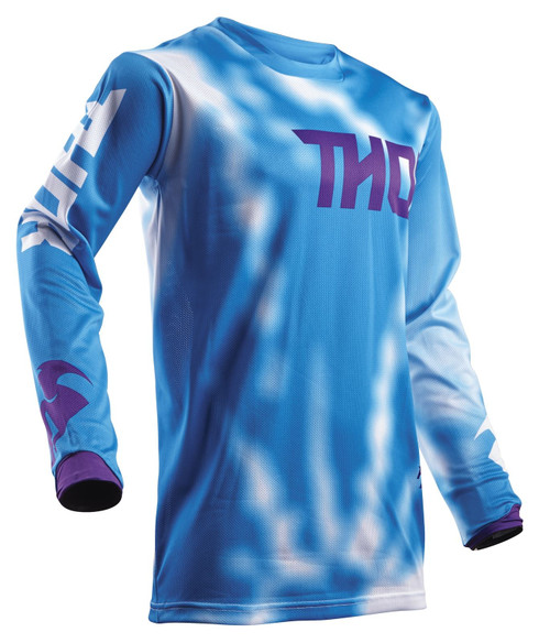 2018 Thor Youth Pulse Air Jersey Radiate Blue
