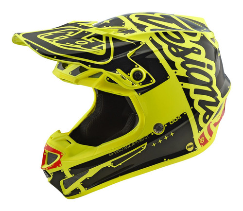 2018 Troy Lee Designs TLD Youth SE4 Polyacrylite Helmet Factory Yellow