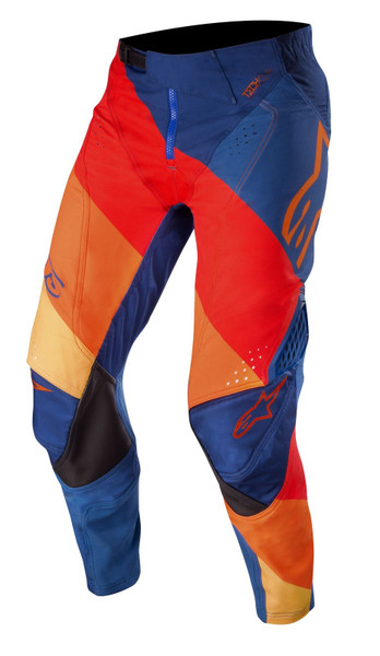 2019 Alpinestars Men's Techstar Venture MX Pant Blue/Red/Tangerine
