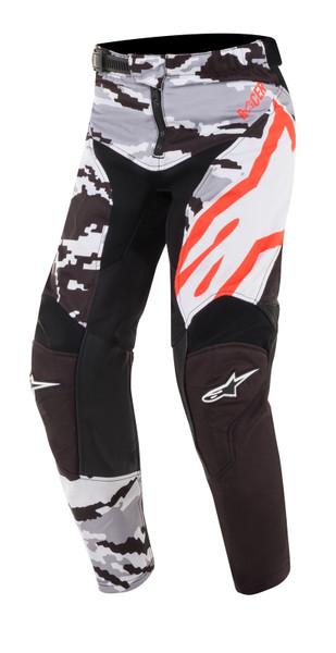 2019 Alpinestars Youth Kids Racer Tactical MX Pant Black/Grey Camo/Red Flou