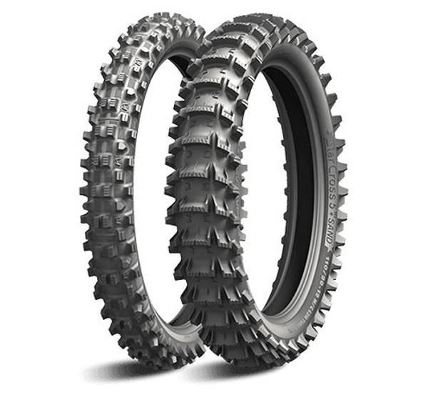 Pair Michelin Starcross 5 Sand Front 80/100-21 & Rear 100/90-19 NHS