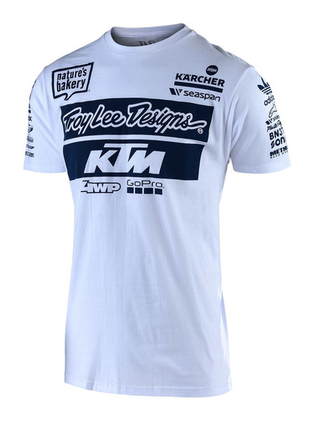2019 Troy Lee Designs TLD KTM T-Shirt White
