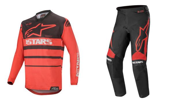 2020 Alpinestars Racer Supermatic Men's Adult MX Gear Combo Bright Red/Black