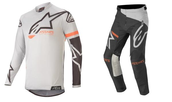 2020 Alpinestars Racer Tech Men's Adult MX Gear Combo Compass Light Grey/Black
