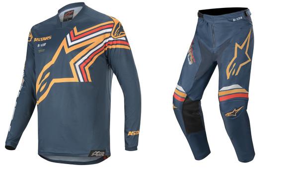 2020 Alpinestars Racer Braap Men's Adult MX Gear Combo Navy/Orange