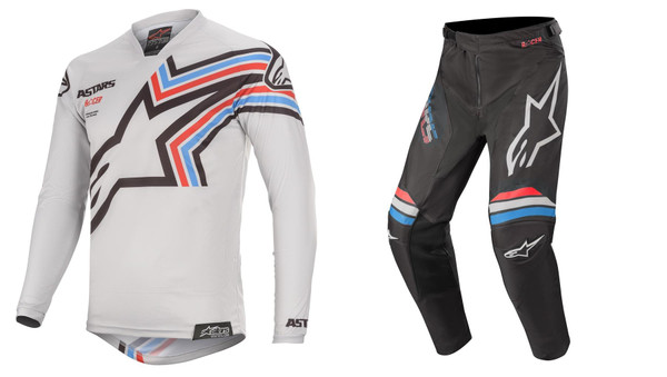 2020 Alpinestars Racer Braap Men's Adult MX Gear Combo Light Grey/Black