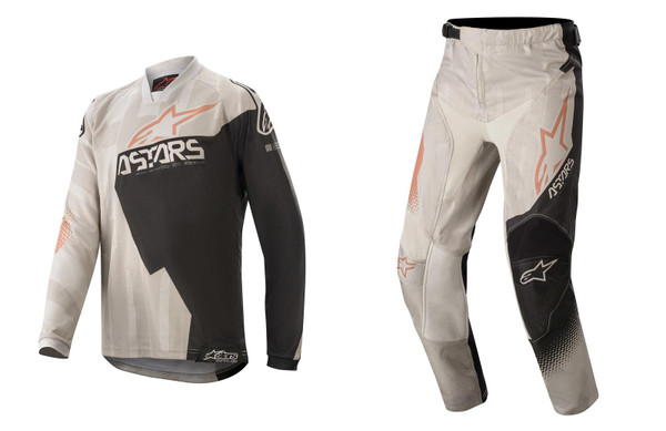 2020 Alpinestars Youth Racer Factory MX Gear Combo Grey/Black/Rust