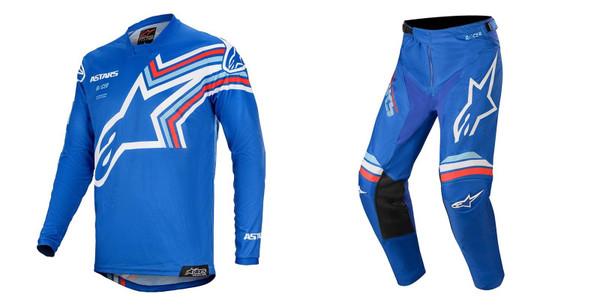 2020 Alpinestars Youth Racer Braap MX Gear Combo Blue/Off-White