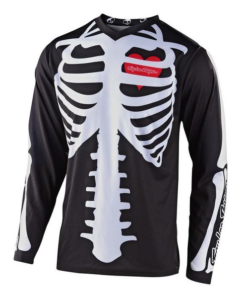 TLD Motocross Jersey GP Skully Black/White 2020 Troy Lee Designs