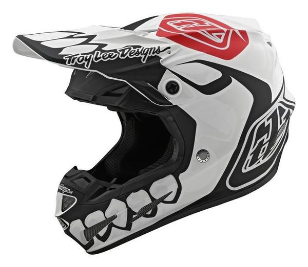 TLD Motocross Helmet SE4 Composite Skully White/Black Limited Edition Adult MX