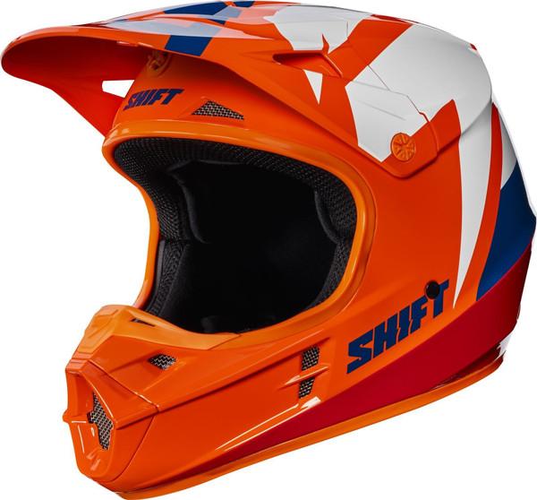 2017 Shift White Tarmac Helmet Orange