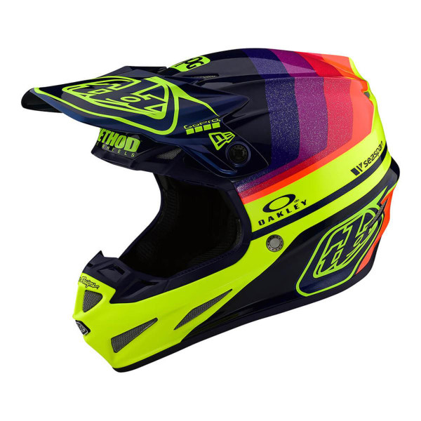 Troy Lee Designs SE4 Helmet Carbon LE Mirage Navy/Yellow