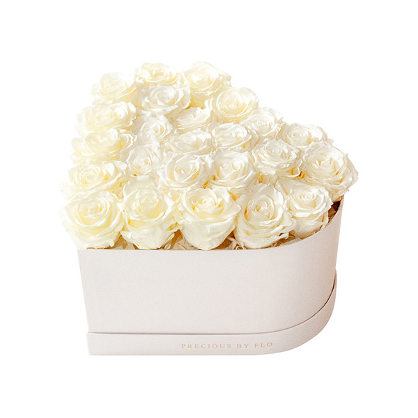 White Chocolate Precious Heart Box