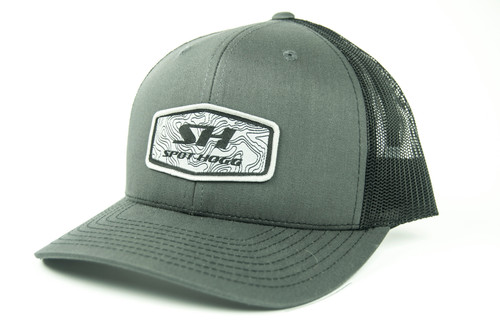 Spot-Hogg Logo Patch Hat, Charcoal Front with Black Mesh