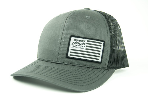 Flag Patch Hat, Charcoal Front with Black Mesh Back