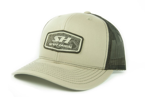 Spot-Hogg Logo Patch Hat, Khaki Front with Brown Mesh Back