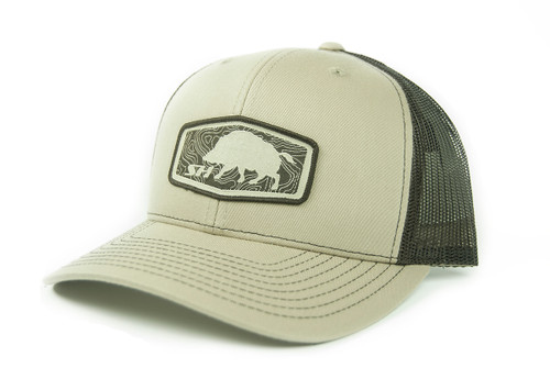 Hogg Patch Hat, Khaki Front, with Brown Mesh Back