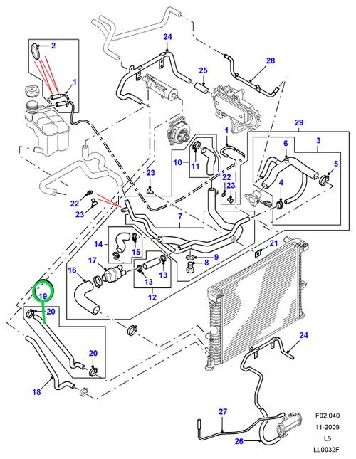 TUBO RADIATORE A RAFFREDDAMENTO OLIO DISCOVERY TD5
