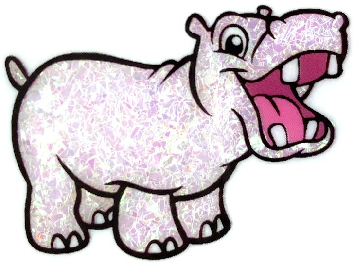 Glitter Hippo® Iridescent Dream Flakes - Elated - White Iridescent Glitter Flakes Pink Green