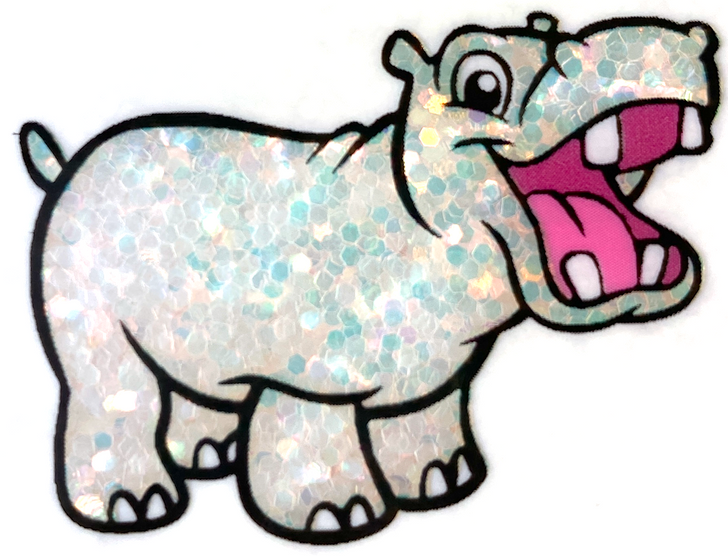 Glitter Hippo® Iridescent Chunky Glitter - Two to Mango - Iridescent White Opal Glitter