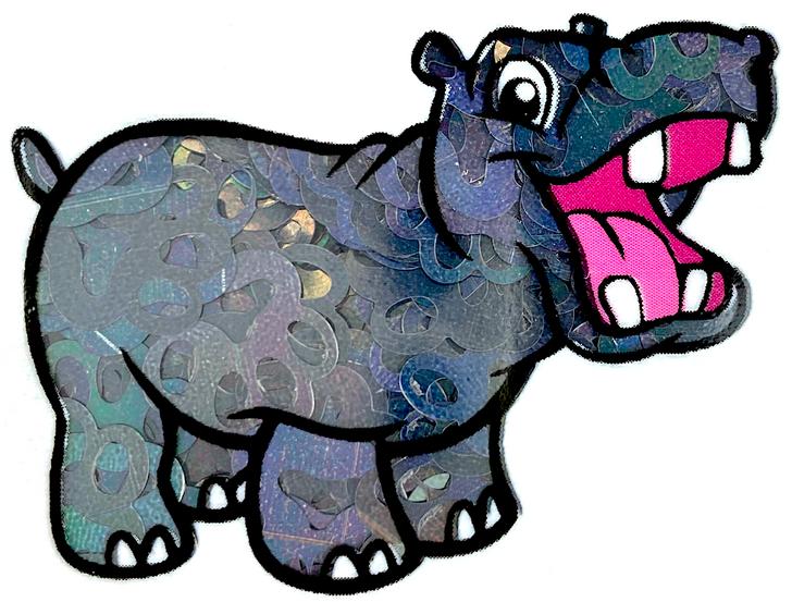 Black Holographic Paw Print Glitter - Glitter Hippo®