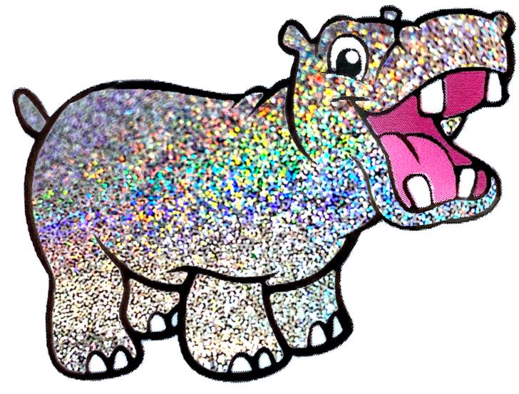 Glitter Hippo® Fine Holographic Glitter - Silver Holographic Glitter - 5 Stars