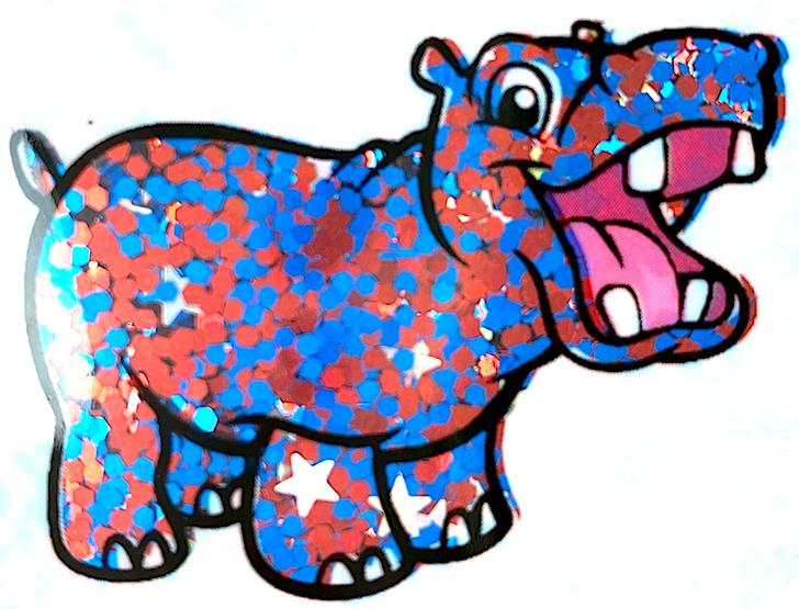 Glitter Hippo® Glitter Blend - Let Freedom Ring - Red, Blue, Holo Stars