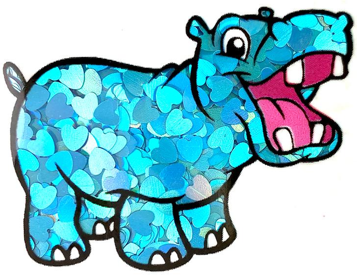Holographic Blue Heart Glitter GlitterHippo.com