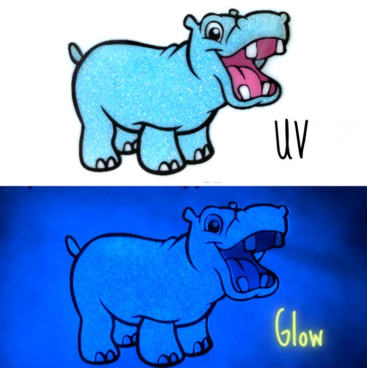 UV Glow Glitter - UV Sky Blue with Blue Glow