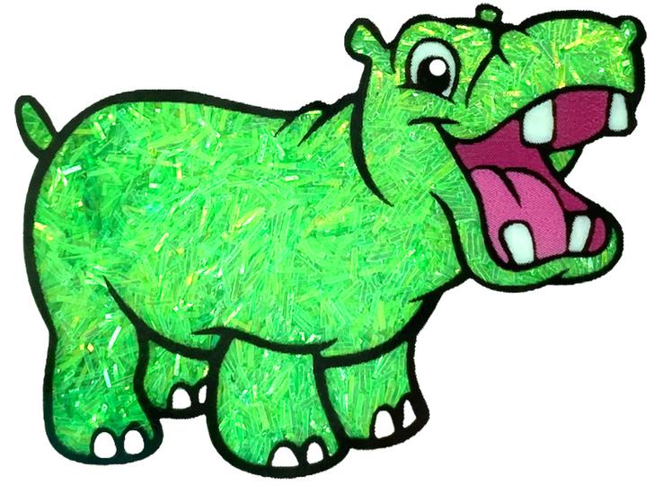 Iridescent Sprinkle Glitter - Wasabi Whoa - Neon Green Tinsel Glitter GlitterHippo.com