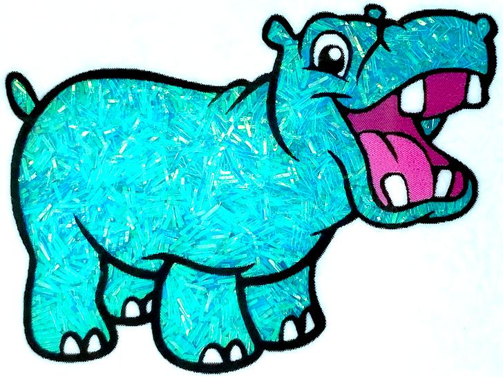 Iridescent Sprinkle Glitter - Lazy River - Bright Blue Tinsel Glitter GlitterHippo.com