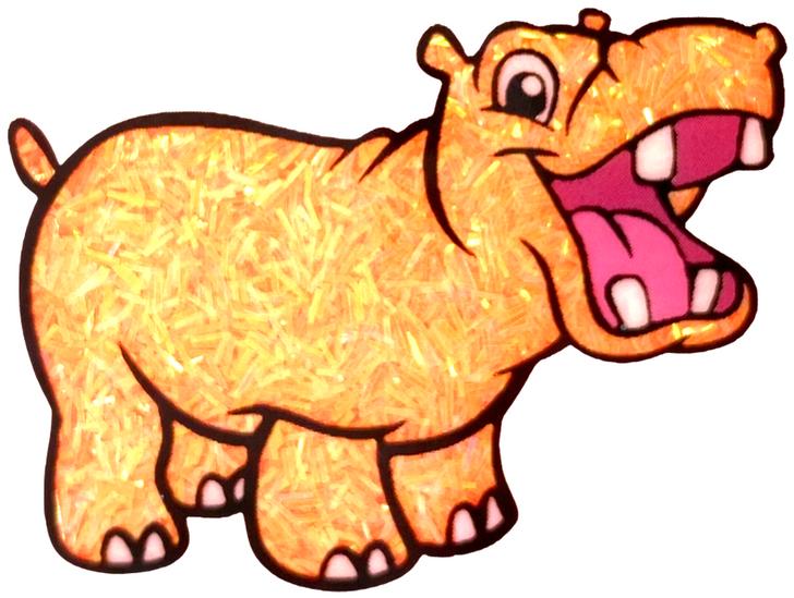 Iridescent Sprinkle Glitter - Get Juiced to It - Orange Tinsel Glitter GlitterHippo.com