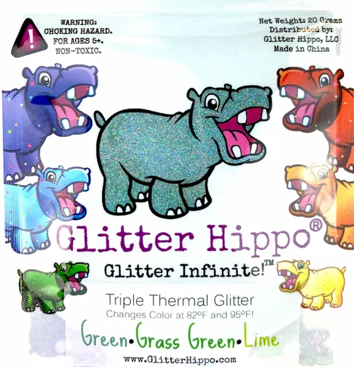 Triple Thermal Glitter - Green/Grass Green/Lime - Heat Activated Color Changing Glitter Thermochromic