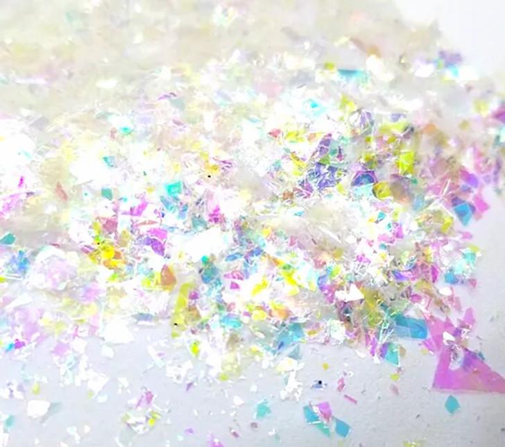 Iridescent Mylar Flakes - Unicorn Rainbow - Glitter Hippo®