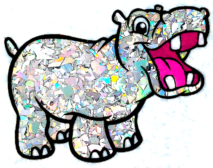 Glitter Hippo® Holographic Mylar Flakes - Disco Kaleidoscope - Rainbow Holographic Silver Glitter Flakes for Resin, Tumblers, Nail Art, and more!