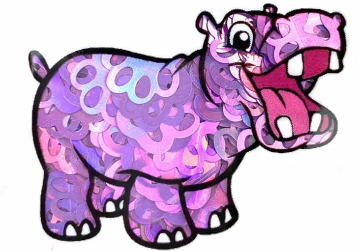 Holographic Shape Glitter - Purple Paw Prints  - Glitter Hippo®